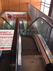 One scary escalator! If you take your bike on the ferry, do NOT go this way!