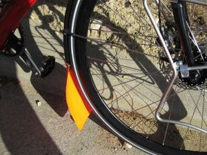 Hot mudflap and shiny new (hopefully stronger!) wheels