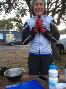 Freezing in Bicheno. Only 4 degrees with the wind chill factor, and that was when you were standing still!