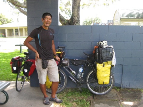 Tatsuro Hamao - a cycle tourist from Japan who had just spent 8 months travelling anticlockwise around Australia after arriving in Darwin.