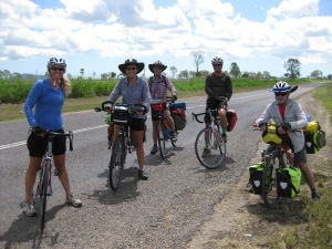 Parting of ways...two down the Bruce Hwy and the rest of us onto Woodstock.