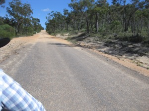 Bitumen turns to dirt on the way to Hidden Valley