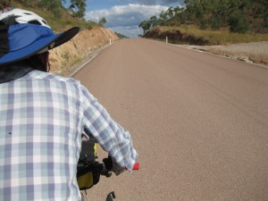 The Laroona-Ewan Road has the most amazingly smooth and wide sections that go for kilometres!