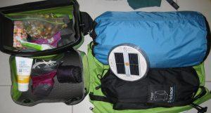 Handlebar bag and top of front rack