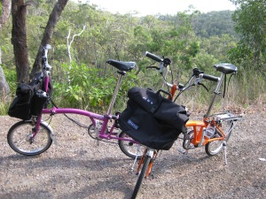 Bromptons and uphill to Paluma