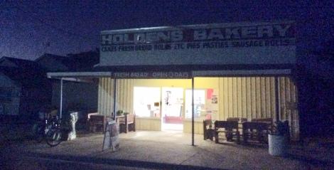 The Bicycle Pedlar - Holden's Bakery, Hughenden