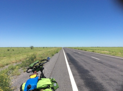 The Bicycle Pedlar - road to Julia Creek