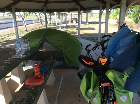 The Bicycle Pedlar - rest area halfway to Cloncurry