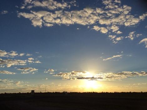 The Bicycle Pedlar - sunset