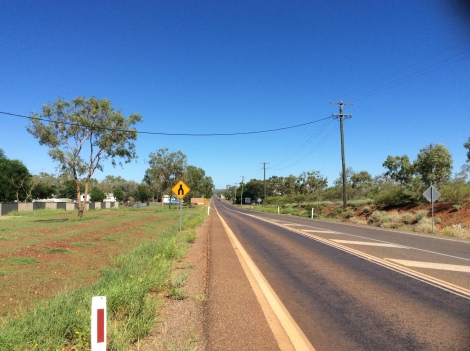 The Bicycle Pedlar - rolling into Cloncurry
