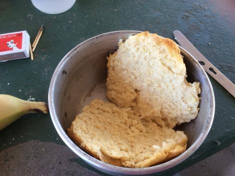 The Bicycle Pedlar - Trangia cooking - damper