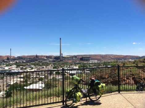 The Bicycle Pedlar - Mount Isa Lookout