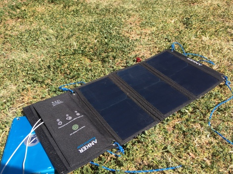 The Bicycle Pedlar - cycle touring, Anker Solar Panel