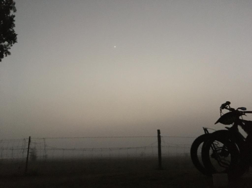The Bicycle Pedlar - fog at Ravenswood - Fat bike cycle touring